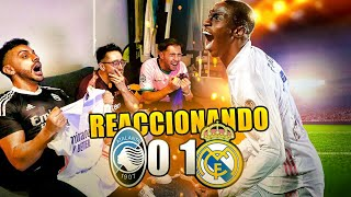 TARJETA ROJA Y GOL DE MENDY **REACCIONANDO CON HINCHAS DEL BARCELONA** ATALANTA 0-1 REAL MADRID