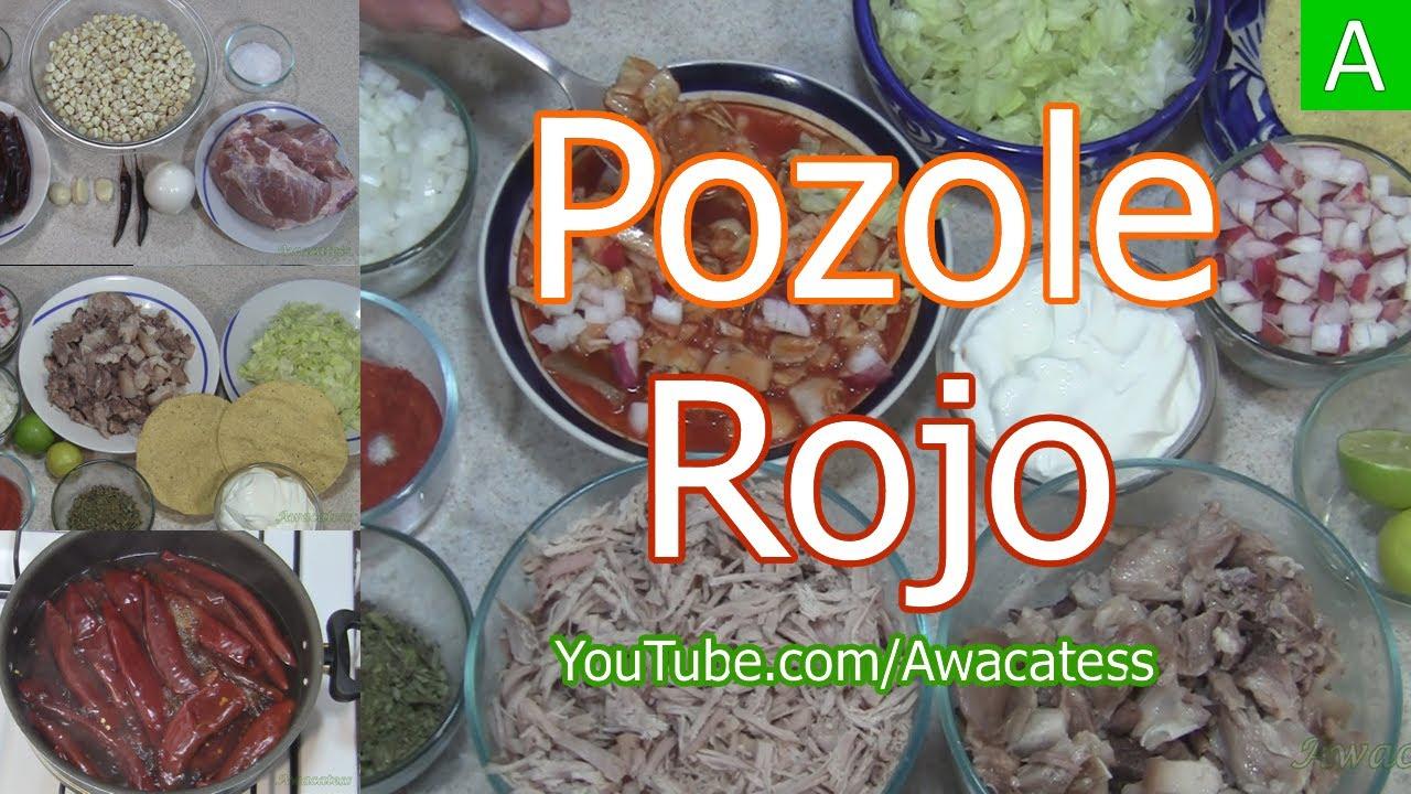 Pozole rojo de puerco recetas de comida mexicana para for Cocina para fiestas