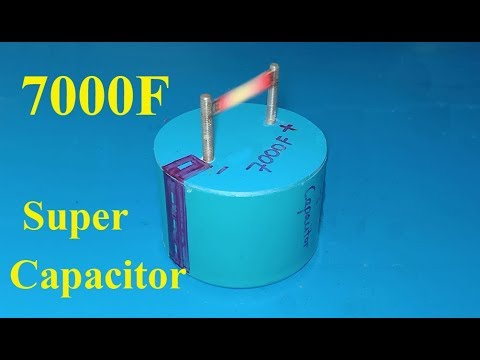 How To Make 7000F Ultra capacitor , DIY Homemade super capacitor from Aluminum foil