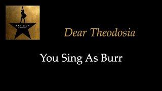 Hamilton - Dear Theodosia - Karaoke/Sing With Me: You Sing Bur…