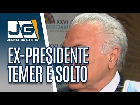 Ex-presidente Temer é solto em São Paulo