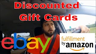 Discounted Gift Cards for Amazon FBA or Ebay