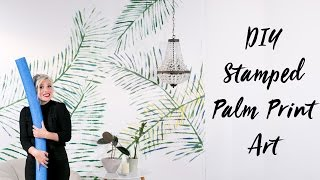 DIY Pool Noodle Stamped Palm Leaf Art