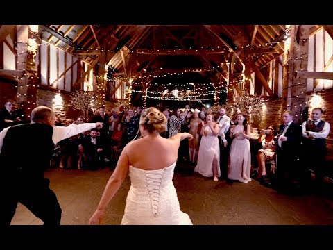 Dad Daughter Dance turns into Insane Wedding Flash Mob!