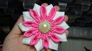 81) DIY - Tutorial || How to Make Kanzashi Flower || Cara membuat bunga kanzashi