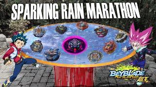 The SuperKing RAIN MARATHON! Variant Lucifer Valkyrie Longinus Diabolos Beyblade Burst Sparking