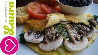 Cómo hacer un OMELETTE - Desayuno fácil y Saludable