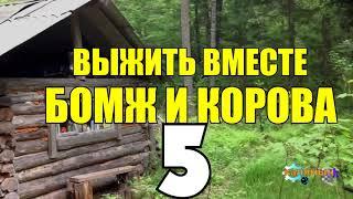 ВЫЖИВАНИЕ БОМЖА  ВЫГНАЛА ЖЕНА  КОРОВА РОДИЛА ТЕЛЕНКА 5 из 5