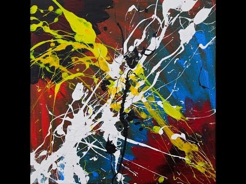 "Abstract Painting Art Demo - ""Ictus"" Embrace The Matrix @embracematrix"