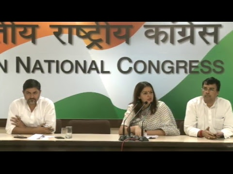 AICC Press Briefing By Priyanka Chaturvedi at Congress HQ, June 9, 2017