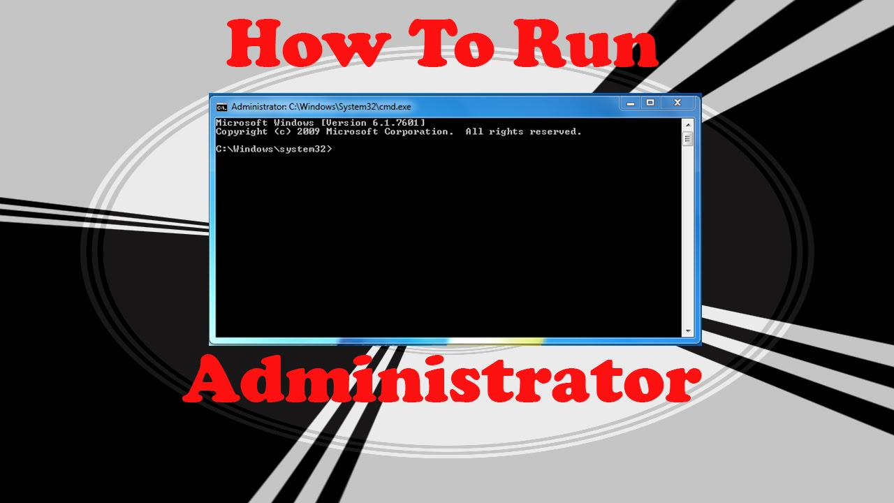 how to open command prompt as administrator win7