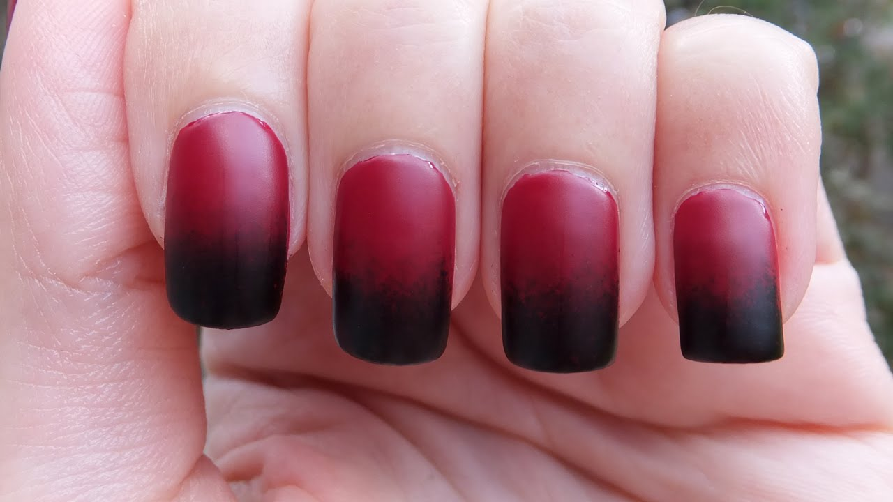 Easy Black And Red Grant Nail Art Tutorial