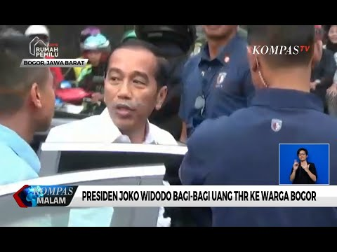 Presiden Jokowi Bagi-bagi Uang THR ke Warga Bogor