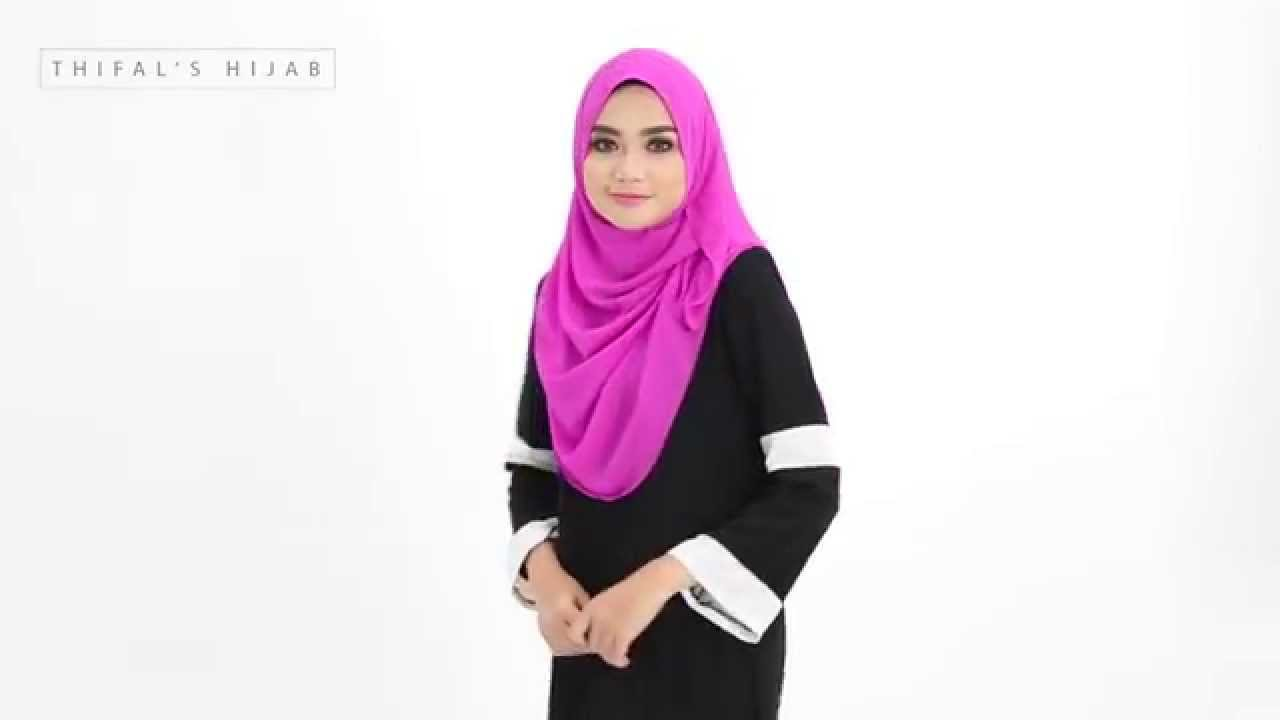 Rana Shawl Tutorial By Thifals Hijab YouTube