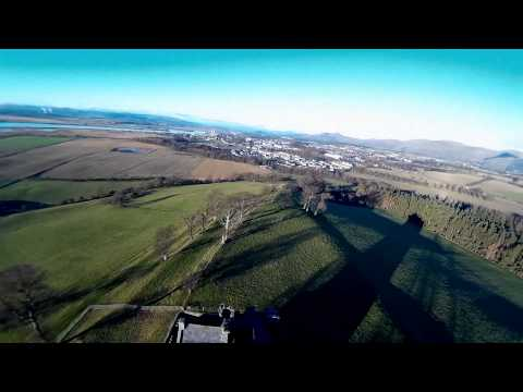 DJI Clackmannan Tower And View Over Wee County