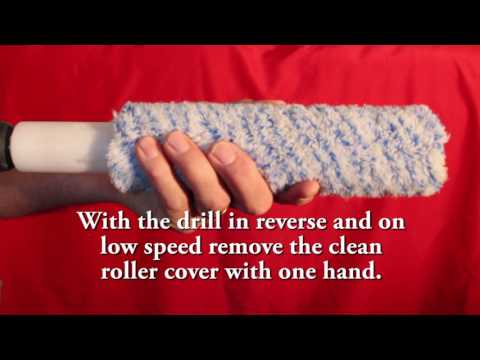 Roller Ready cleans your paint roller covers in seconds.