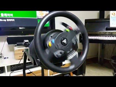thrustmaster tmx force feedback racing wheel youtube. Black Bedroom Furniture Sets. Home Design Ideas