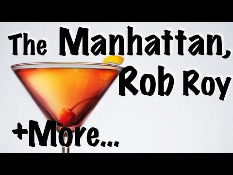 MANHATTAN RECIPE (HD) feat. ROB ROY - Bartending Pro