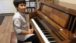 Sonatina in C Major #55 Vivace by Friedrich Kuhlau Played by Aiden Schwaller (age 8)