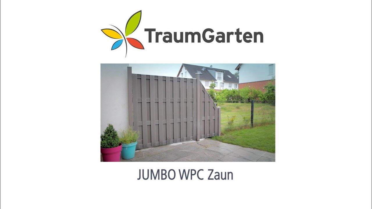 Jumbo Wpc Sichtschutz Aufbauen Youtube