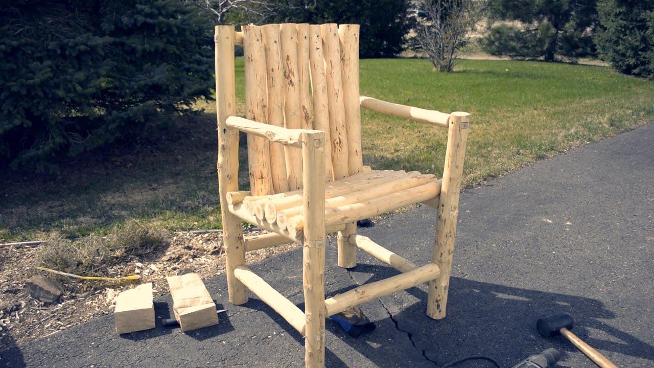 Assembling A Log Chair