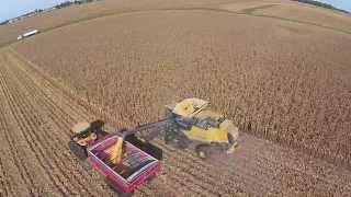 T K FARMS DARKE CO. OHIO ,2014 corn harvest ,job of the grain cart operator