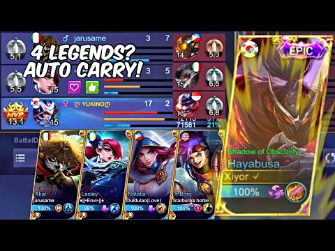 4 Legend Teammates, 1 Mythical Glory Hayabusa Activates Super Saiyan To Carry Them All!
