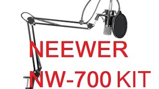 unboxing neewer nw 700 professional studio broadcasting recording condenser microphone kit