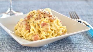 Creamy Ramen Carbonara (One-Pot Pasta Recipe) | OCHIKERON | Create Eat Happy :)