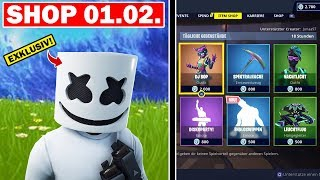 *EXCLUSIVE* MARSHMELLO SKIN + GLEITER * EMOTE! Fortnite Shop of Today 01.02 | Jonny