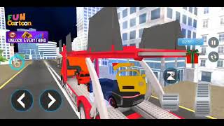 Crazy Car Transport Truck:New Offroad Driving Game screenshot 1