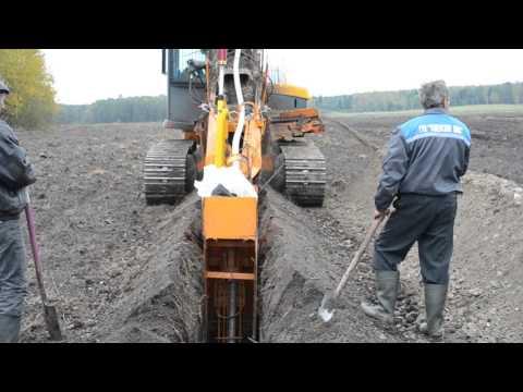 Устройство дренажа многоковшовым экскаватором (drainage)