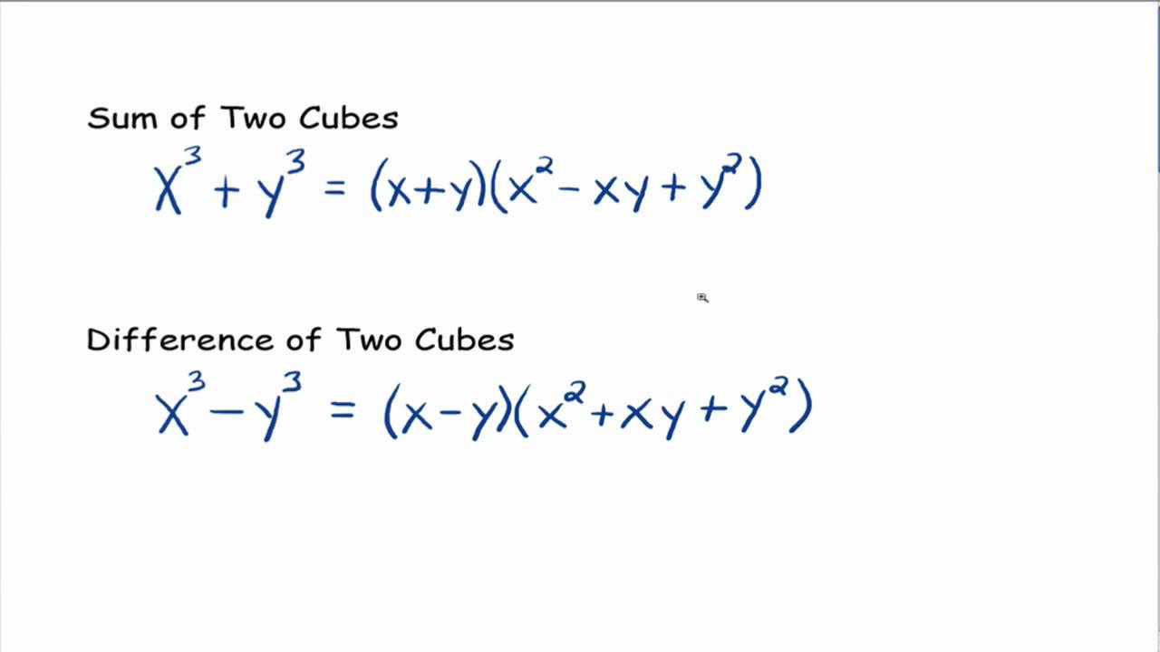 Difference Of Cubes Worksheet – Difference of Cubes Worksheet