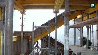 ДОМ ЗА ГОД. Монтаж монолитной, железобетонной лестницы