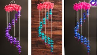 DIY Wind Chime with Beautiful Paper Flowers | Wall Hanging/Paper Craft