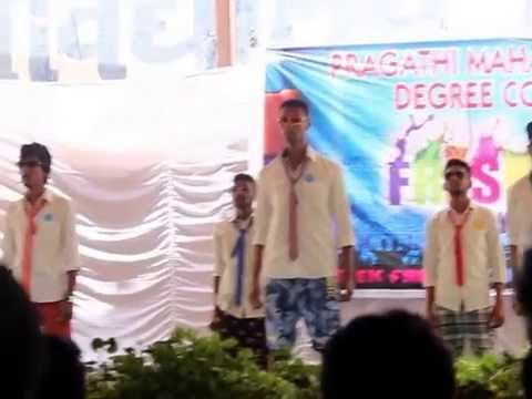 PRAGATHI MAHAVIDYALAYA DEGREE COLLEGE FRESHERS PARTY 2k15 ...