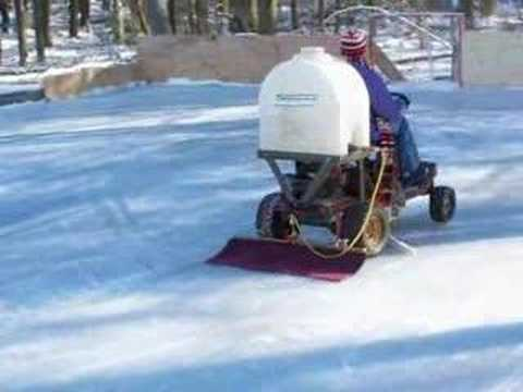 Backyard Zamboni - YouTube