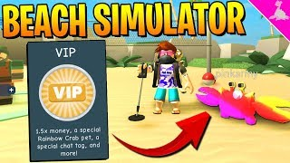 NEW ROBLOX BEACH SIMULATOR RAINBOW CRAB! ! + SHADOW SCYTHE GIVEAWAY WINNER!