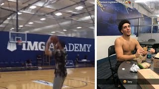 LIANGELO BALL NBA DRAFT WORKOUT AT PRO COMBINE :: GELO BALL NBA Draft Ready?