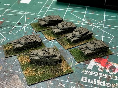 6mm Cold War - Painting US M1A2 Tanks from GHQ