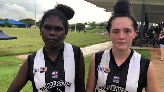 Freda Puruntatmeri & Billie Byers - Post Match Interview: Round 14 2018/19 TIO NTFL