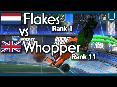 Flakes (Rank 1) vs Whopper (Rank 11) | Rocket League 1v1 thumbnail