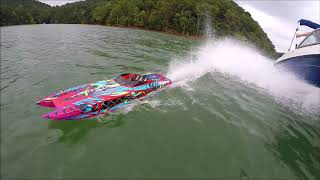 Traxxas M41 RC Boat with chase boat