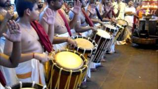 Panchari Melam by Mast. Siddharth at Sree Poornathrayeesa Temple on 26.10.2011.wmv
