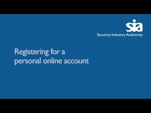 Registering for a personal online account