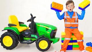 Senya chooses a new profession: Tank driver or Tractor driver?