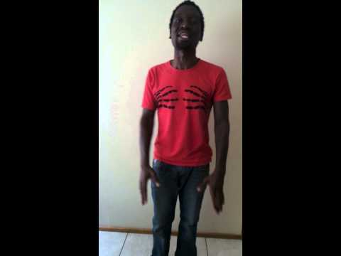Tshidiso Oracle recites poetry in a friend's apartment in johannesburg