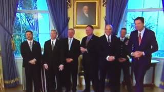 Trump just literally blew a kiss to James Comey at a White House reception for law enforcement