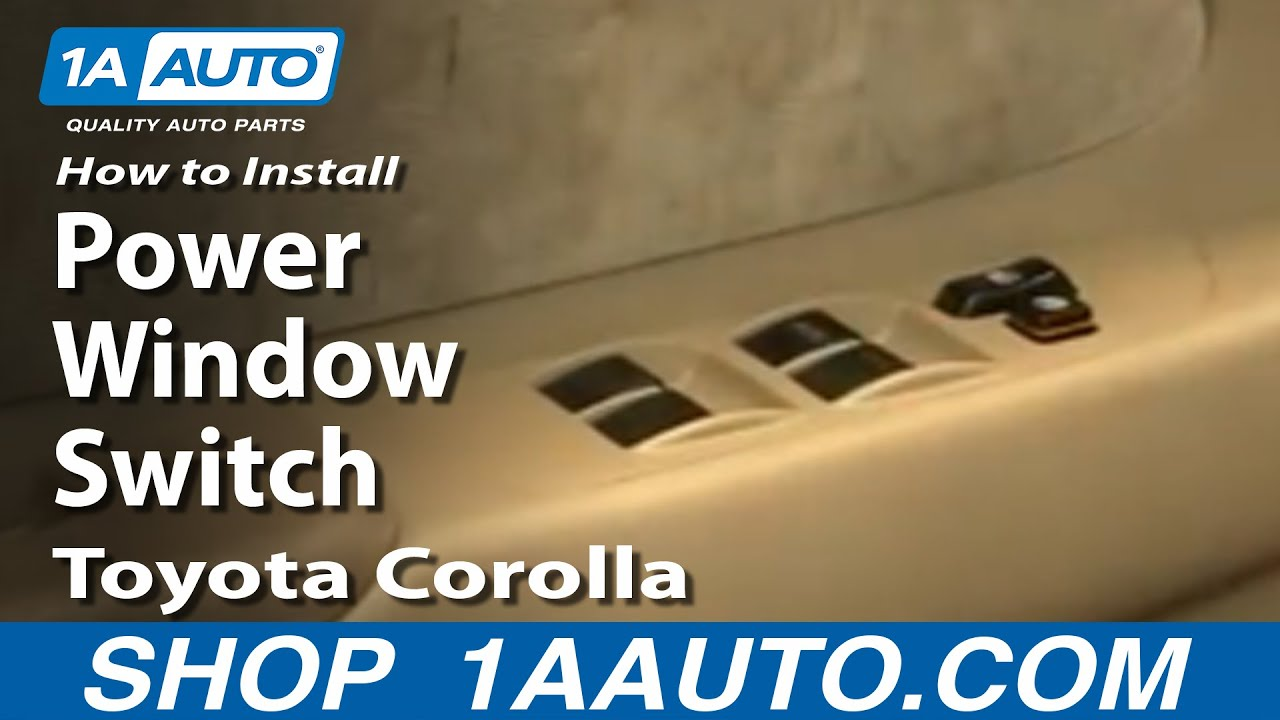 How to install replace power window switch toyota corolla for Window location