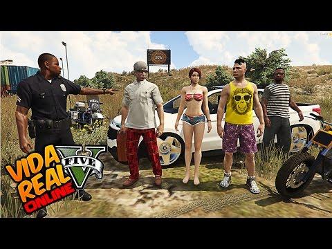 GTA V : VIDA REAL - Policia Brisado e LETICIA Me Perdoou ( EP#327 )